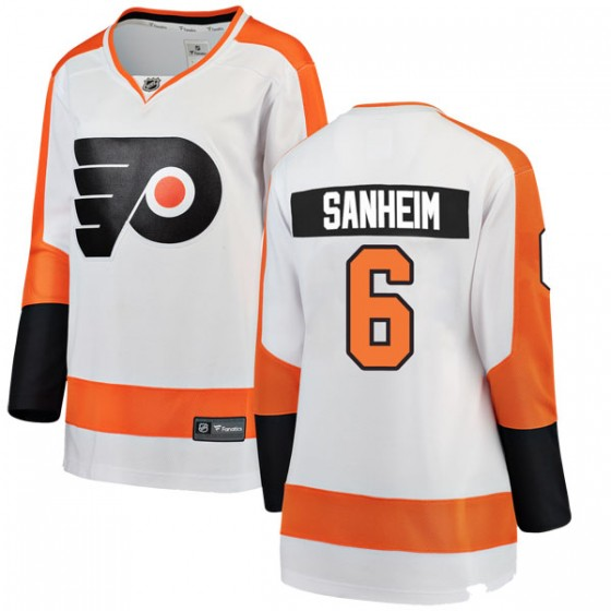 Breakaway Fanatics Branded Women's Travis Sanheim Philadelphia Flyers Away Jersey - White